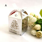 10pcs Eid Mubarak Printed Candy Gift Box Ramadan Decoration Islamic Sweet Gi  F
