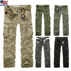 Military Men's Cotton Cargo Pants Combat Camouflage Camo Army Hiking Trousers US