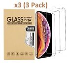 3-Pack For iPhone 12 Pro 11 7 8 Plus X Xs Max XR Tempered GLASS Screen Protector