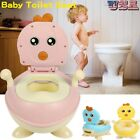 Kid Baby Potty Training Seat Portable Toddler Lovely Toilet Seat Stool Chair US image