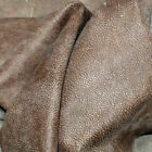 A69 Leather Cow Hide Cowhide Upholstery Craft Fabric Nutmeg Brown