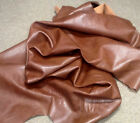 WS01 Leather Cow Hide Cowhide Upholstery Craft Fabric Russet Brown
