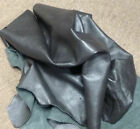 BR808 Leather Cow Hide Cowhide Upholstery Craft Fabric Graphite Lead Black
