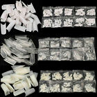 Kyпить 500-1000 Pcs Coffin Nail Tips Long Square French Fake False Nails Transparent US на еВаy.соm
