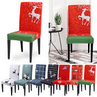 Christmas Dining Room Chair Cover Removable Washable Stretch Seat Cover GIFT