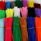 100pcs Chenille Stems Pipe Cleaners Kids Plush Educational Toy Colorful Pipe Cle