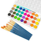 US 36 Color Fundamental Watercolor Pan Artist Set and/or 10 Paint Brushes