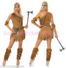 OP 128 Ladies Costume Fancy Dress Native American Indian Wild West Sz 6-16