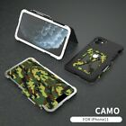 For iPhone 11 Pro Max/11 Heavy Duty Armor Metal Aluminum Camouflage Case Cover