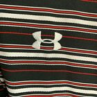 Under Armour Loose Fit Black and Striped Athletic Golf Polo Shirt Mens XL