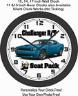 2019 DODGE CHALLENGER R/T SCAT PACK WIDEBODY WALL CLOCK-ALL COLORS AVAILABLE!