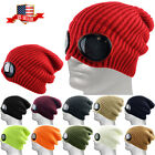 Goggle Lens Beanie Winter Hat Cuff Knit Ski Skull Cap Outdoor Sports