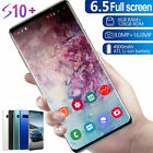 "6.5"" S10 Smart Mobile Phone Dual Sim Face Id Unlocked Android 9.1"