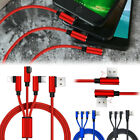 3 in 1 Fast Charging Cable Charger Micro USB Type C Data Sync for iPhone Samsung