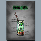 DRINKS AND COCKTAILS Metal Poster Wall Art MINT JULEP