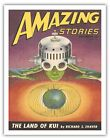 Amazing Stories December 1946 - Bob Hilbreth Vintage Magazine Cover Art Print