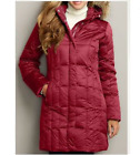 NWT Eddie Bauer 14 Women's Lodge Down Coat Parka Jacket 650 FP scarlet
