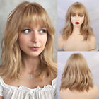 Bob Synthetic Hair Wigs with Air Bangs Anime Cosplay Blonde Wig for Women Girls