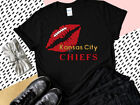 Nfl Kansas City Chiefs T-Shirt Lips Women's V-Neck Top Super Bowl Champions New $23.99 USD on eBay
