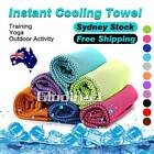 instant cooling towel sweat cool icy gym fitness yoga jogging exercise outdoor