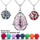 1 Pc Women Tree Of Life Mexico Ball Aromatherapy Jewelry Essential Oil Necklace