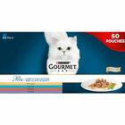 New Purina Gourmet Perle Chefs Mini Fillets in Gravy Cat Food 60 x85g Multi Buy