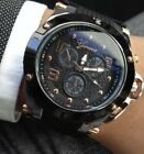 Luxury Geneva Watch! Big Face New Black watches Gift Man woman USA shipping! image