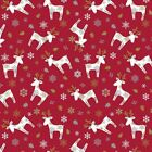Scandi Christmas Reindeer Red PVC Vinyl Wipe Clean Oilcloth Tablecloth