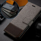 Canvas Wallet Folding Case Cover For Samsung Galaxy S20+ S8 S9 S10 Note 20 Ultra