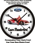 FORD COORS #9 THUNDERBIRD WALL CLOCK-FREE USA SHIP!