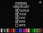 Fishing Checklist Funny Car Sticker Window Vinyl Decal Redneck Hunting Fish Buck