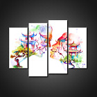 COUPLE KISSING IN JAPAN ABSTRACT CANVAS PRINT PICTURE WALL ART HOME DECOR