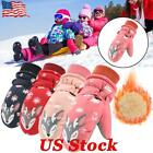 Children Kids Boys Girls Sports Snow Warm Gloves Windproof Skiing Snow Mittens