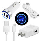 For Motorola Moto G7 Power G6 Plus Z4 Z3 Play Fast Car Wall Charger Type C Cable
