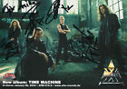 AXXIS autographs, German heavy metal band, signed promotion card