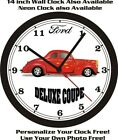 1940 FORD DELUXE COUPE HOT ROD WALL CLOCK-FREE USA SHIP!