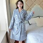 1 Pc Women Cartoon Thicken Nightgowns Winter Bathrobe Pajamas Bath Flannel Warm