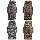 100l Outdoor Molle Military Tactical Bag Camping Hiking Trekking Backpack Camo