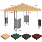 10'x10' Waterproof Gazebo Top Replacement Canopy Sunshade Patio Garden Cover