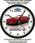1989 CHEVROLET CAMARO IROC Z CONVERTIBLE WALL CLOCK-FREE USA SHIP