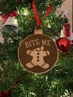Laser Engraved Wood Funny Christmas Ornaments Many Designs To Choose From