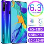 P35 Pro 6.3 in Cellphone HD Screen Face Recognition Smart Mobile Phone 6+128GB