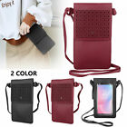 Universal Leather Cell Phone Shoulder Bag Pouch Wallet Card Strap Crossbody Case