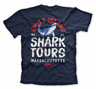 Officially Licensed Jaws - Amity Island Shark Tours Mens T-Shirt S-XXL Sizes