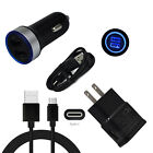 For ZTE Zmax Pro Z981 Z982 Blade Grand X Z Max XL Z983 Wall Car Charger Cord Set