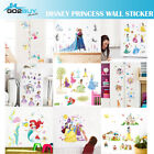 Wall Stickers Disney Princess Girl Removable Frozen Mermaid Kids Girl Room Decal