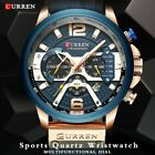 CURREN Watch Luxury Analog Leather Sport Watches Men's Military Army Wrist Watch image