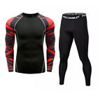 Mens Compression Top Tights Pants Sport Suit Dri-fit Training Basketball Trouser
