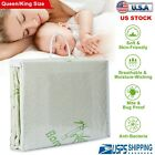 "Bamboo Mattress Cover Fitted Bed Protector Pad Topper 14"" King Queen Waterproof image"