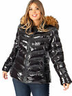 Lovedrobe Black Shine Padded Coat Jacket with Faux Fur Hood $89.84 AUD on eBay